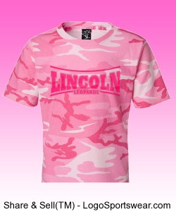 Youth Pink Camo Lincoln Shirt Design Zoom