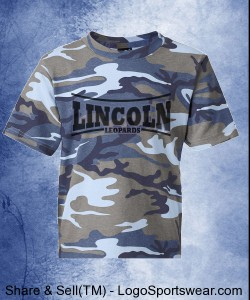 Youth Blue Woodland Camo Shirt Design Zoom