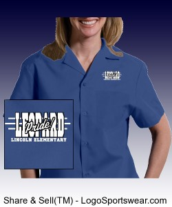Adult Easy Care Poplin Camp Shirt Design Zoom